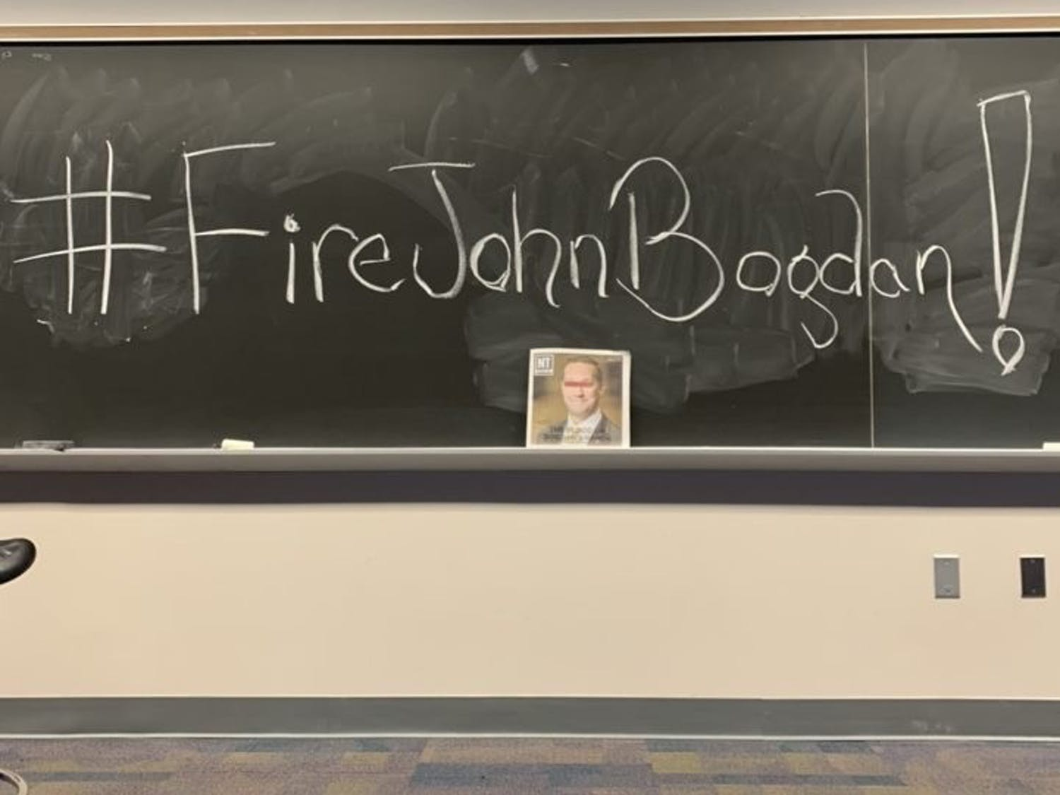 Now, a coalition of anonymous students, faculty, staff and community members has called for the immediate removal of John Bogdan, the associate vice chancellor of safety and security at UNC-Charlotte. Photo courtesy of Coalition to Remove John Bogdan