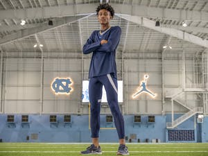 Junior exercise and sports science major Michael Spragley is a runner on both the track and field and cross country teams. He is pictured in the Koman Practice Complex on Oct. 11.
