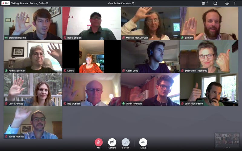 The Orange County Climate Council debates a proposal to endorse the Energy Innovation Carbon Dividend Act at its meeting held virtually on Thursday, Sept. 17, 2020.