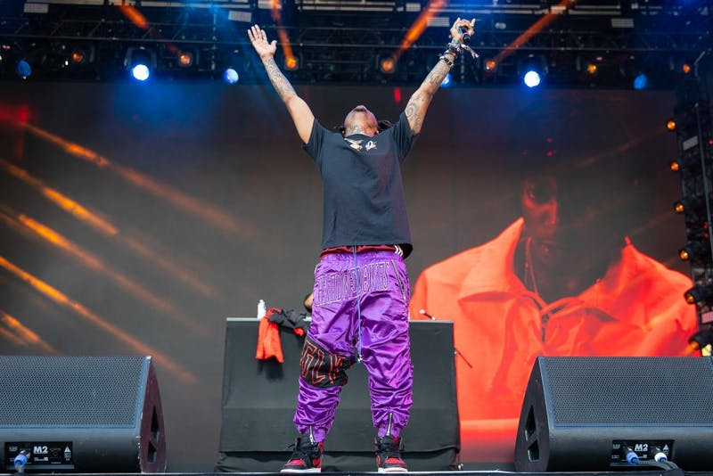 J.I.D performs his set at the Shine Stage at the inaugural Dreamville Fest at Dorothea Dix Park on Saturday, April 6, 2019 in Raleigh, N.C. In its inaugural event, 40,000 people attended Dreamville after it was postponed in the fall of 2018 because of Hurricane Florence.