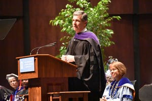 Governor Roy Cooper was the keynote speaker at the University Day ceremony on Oct. 12.