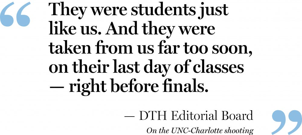 Editorial: We stand with UNC Charlotte