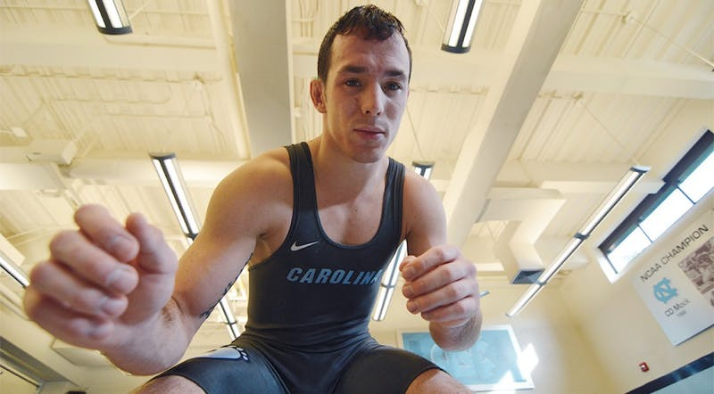 Evan Henderson is a junior on the UNC wrestling team. Henderson has been wrestling since kindergarten and says it took several years to adjust to the wrestling lifestyle.
