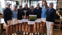 The North Carolina women's golf team won the Briar's Creek Invitational two weeks ago. Whaley (holding trophy) also won the individual title. Photo courtesy of UNC Athletic Department.