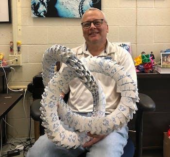 Math professor Mark McCombs.