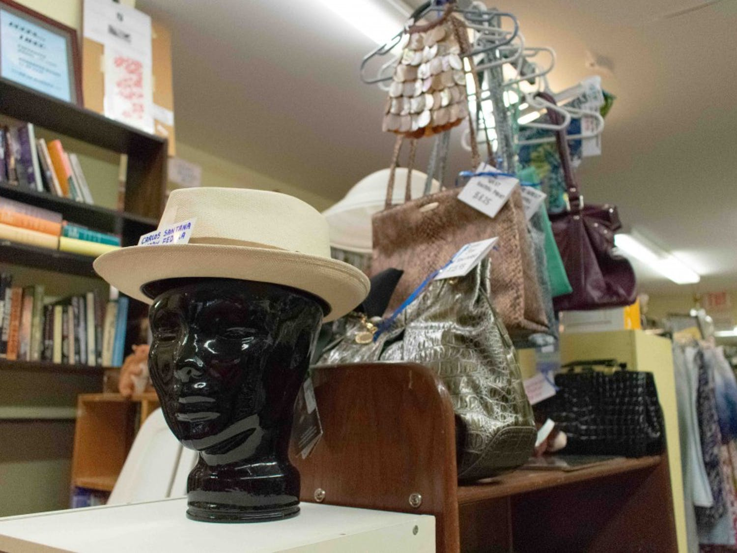 The Club Nova Thrift Shop offers reasonably priced used items, including clothing and accessories.