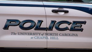 A UNC Chapel Hill police car parked on campus on Thursday, Aug. 6, 2020.