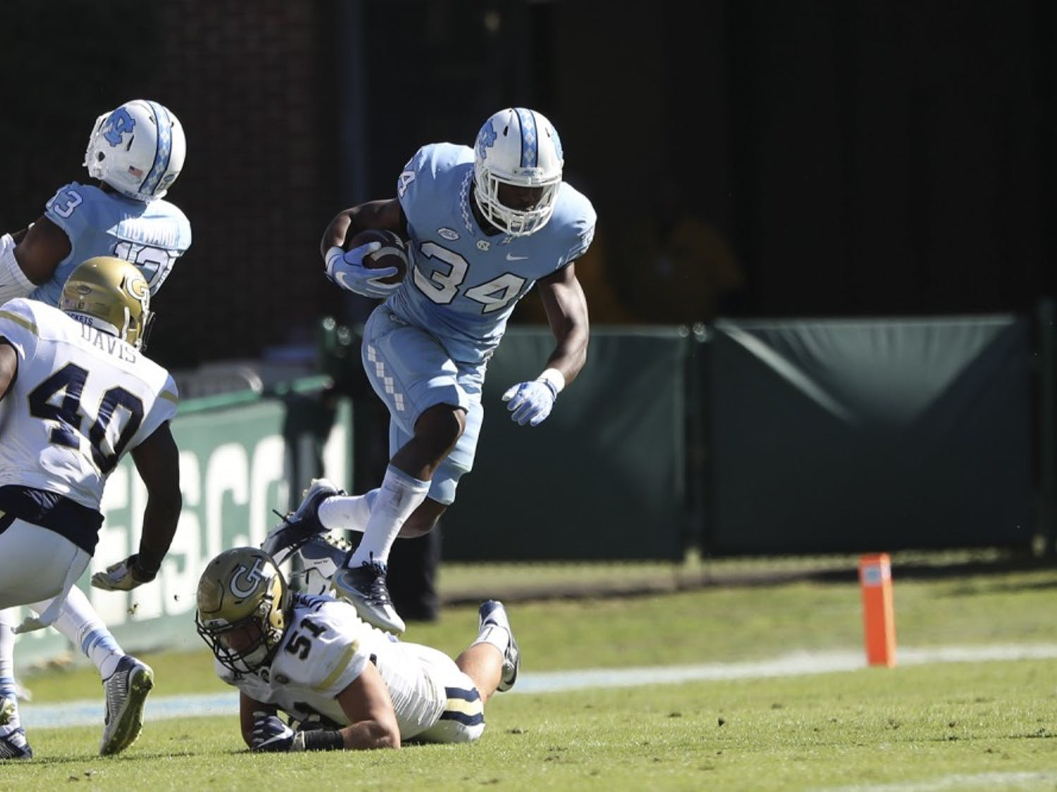 The UNC football team defeated Georgia Tech 48-20 on Homecoming weekend in Chapel Hill on Saturday.