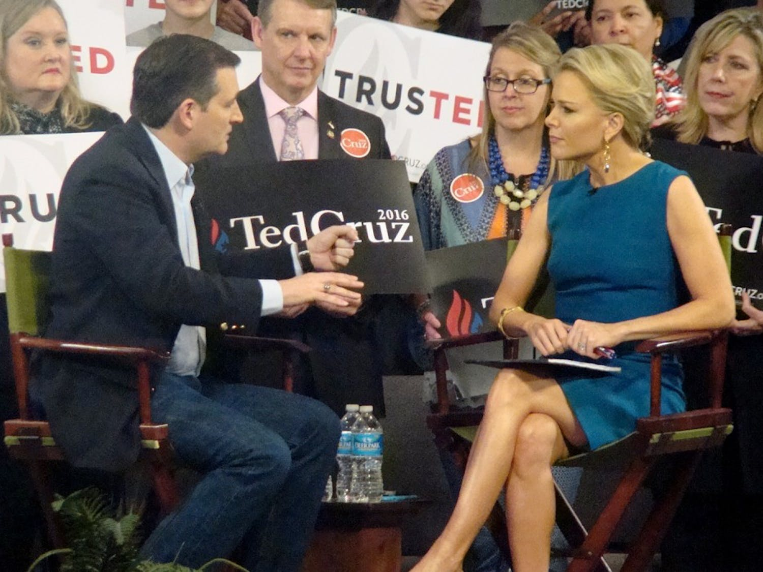 Senater Ted Cruz, presidential candidate, participated in a Q&A session with Megyn Kelly at Calvary Baptist church of Raleigh on Tuesday, March 9th.
