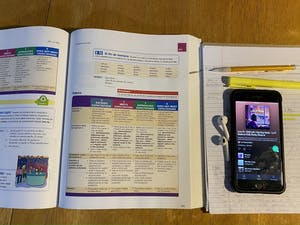 DTH Photo Illustration. For many students, there is pressure to stay organized and caught up on assignments for their classes. This can be challenging for students who are doing their classes online.