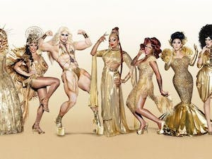 """Shangela (third from left) was a contestant on season three of """"RuPaul's Drag Race All Stars."""" Photo courtesy of VH1."""