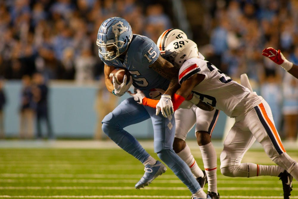 Fourteen unanswered points see UNC fall to Virginia, take hit in Coastal race