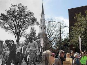 (DTH Photo Illustration/José Valle; original photos DTH file/Barron Northrup and courtesy of UNC Archives)