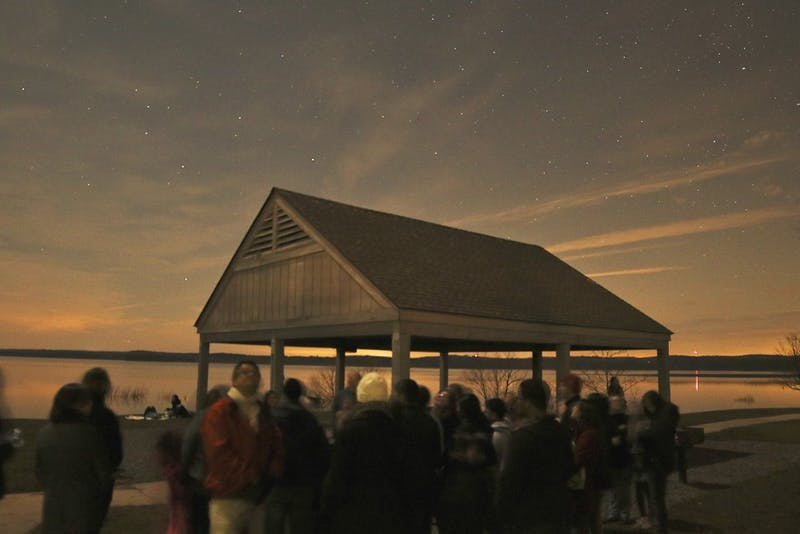 The Morehead Planetarium hosts a star gazing session open to the public once a month at Jordan Lake.
