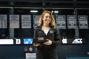 Sophomore Georgina Summers of the UNC fencing team won a silver medal in the individual epee competition on Feb. 24 in Carmichael Arena.