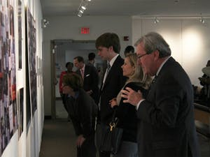 """The Board of Trustees had a private viewing of the """"I Have A Dream UNC Exhibit"""" in the Student Union Art Gallery Wednesday."""