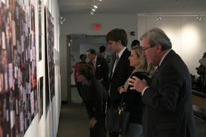"The Board of Trustees had a private viewing of the ""I Have A Dream UNC Exhibit"" in the Student Union Art Gallery Wednesday."