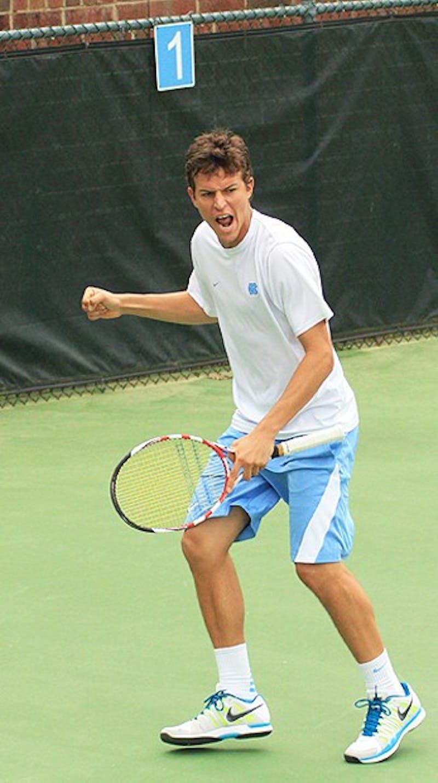UNC Men's Tennis against UVA, Sunday, March 25th.