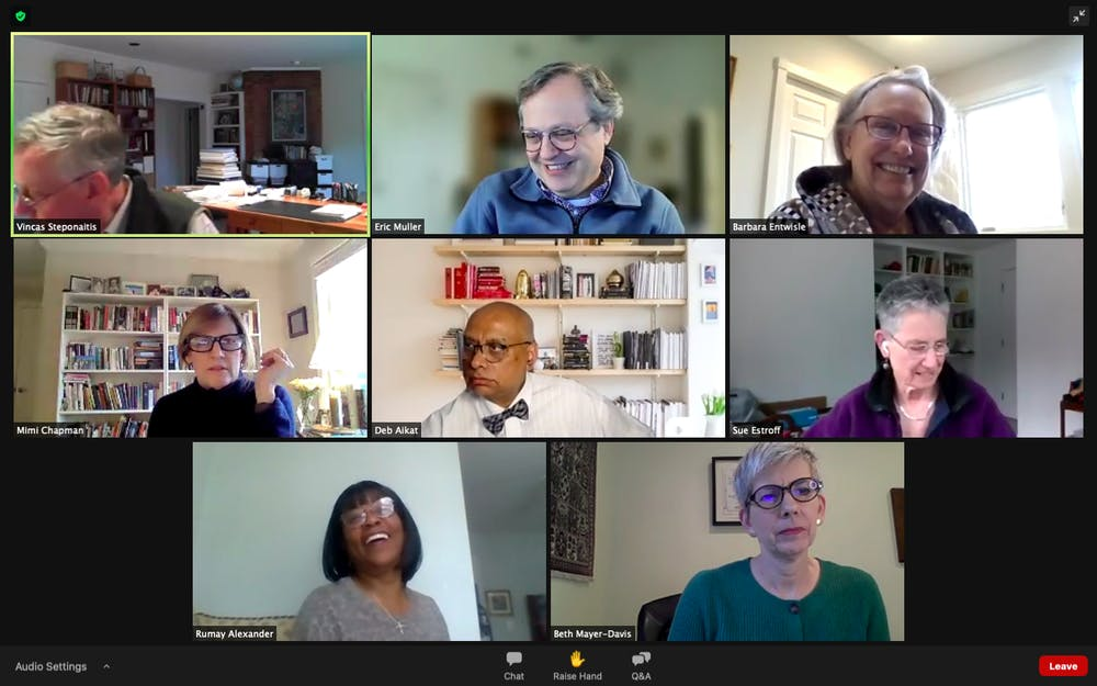 <p>Screenshot from the Faculty Executive Committee meeting on Monday, March 15, 2021.&nbsp;</p>
