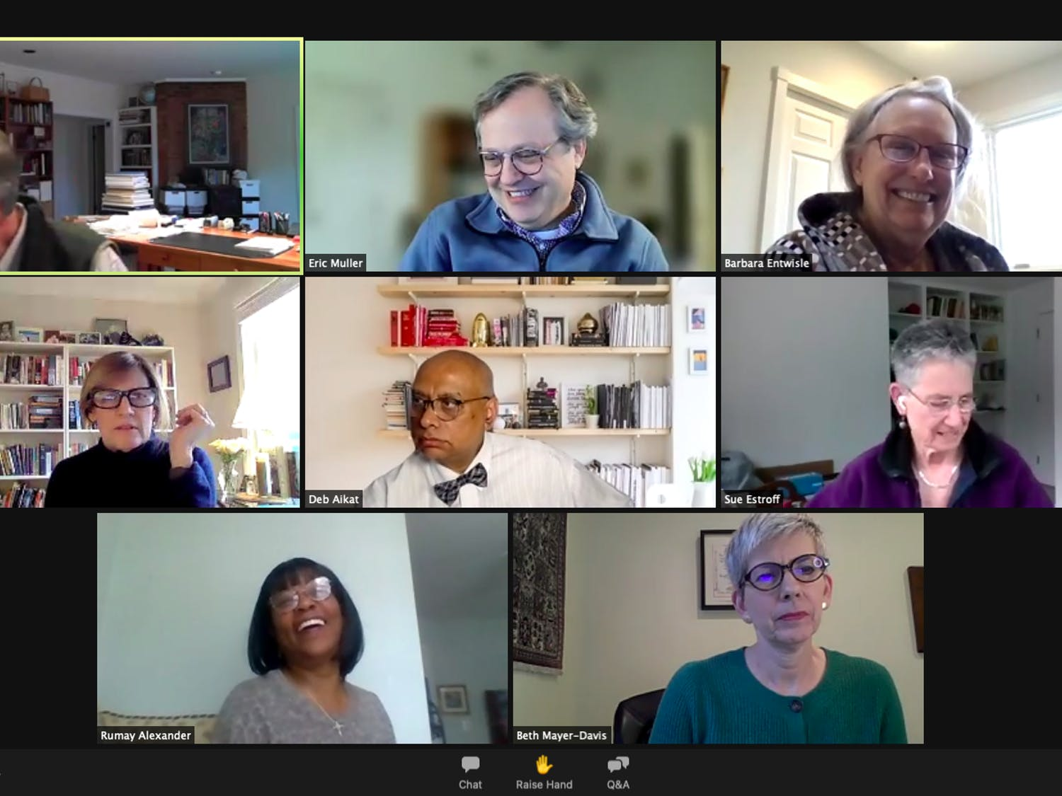 Screenshot from the Faculty Executive Committee meeting on Monday, March 15, 2021.