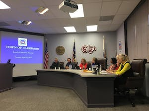 The Carrboro Board of Aldermen discussed the location for an intermediate to advanced level pump track at their meeting on Tuesday.