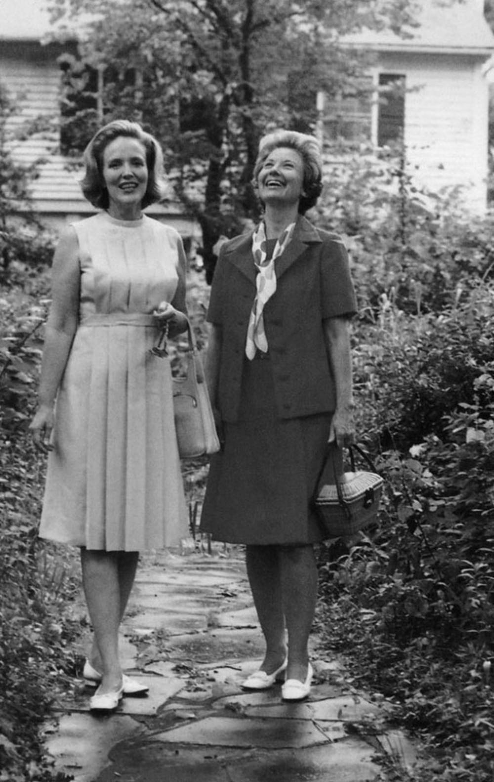 Georgia Kyser, left, and Ida Friday, right, founded the Preservation Society of Chapel Hill in 1972. She was a model and an actress.