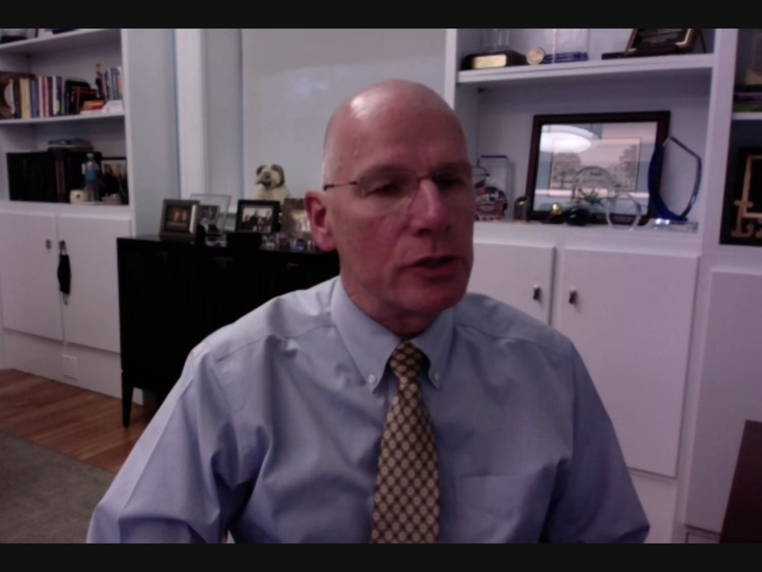 Screenshot from the Faculty Executive Committee meeting held over Zoom on Monday, Jan. 25, 2021.