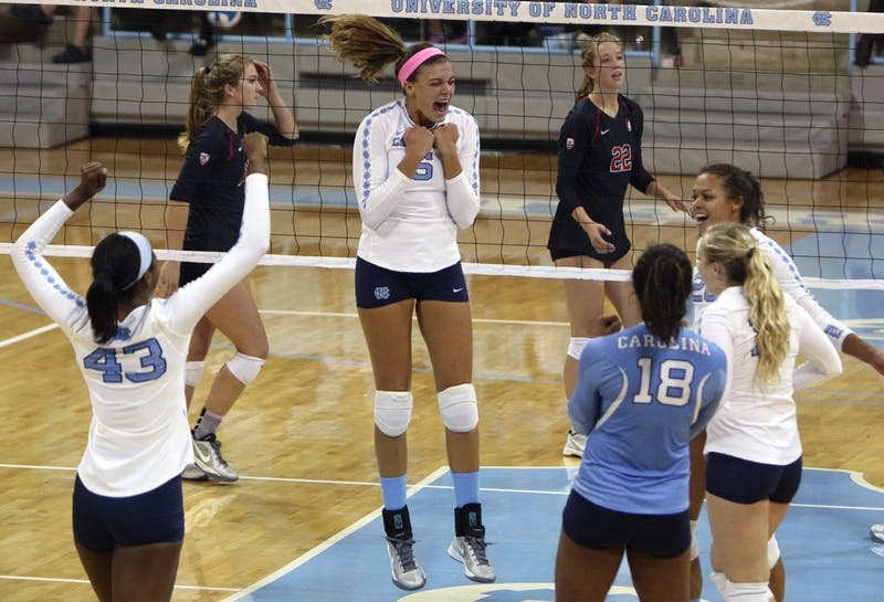 The UNC volleyball team defeated Stanford 3 matches to 0 on Thursday evening.