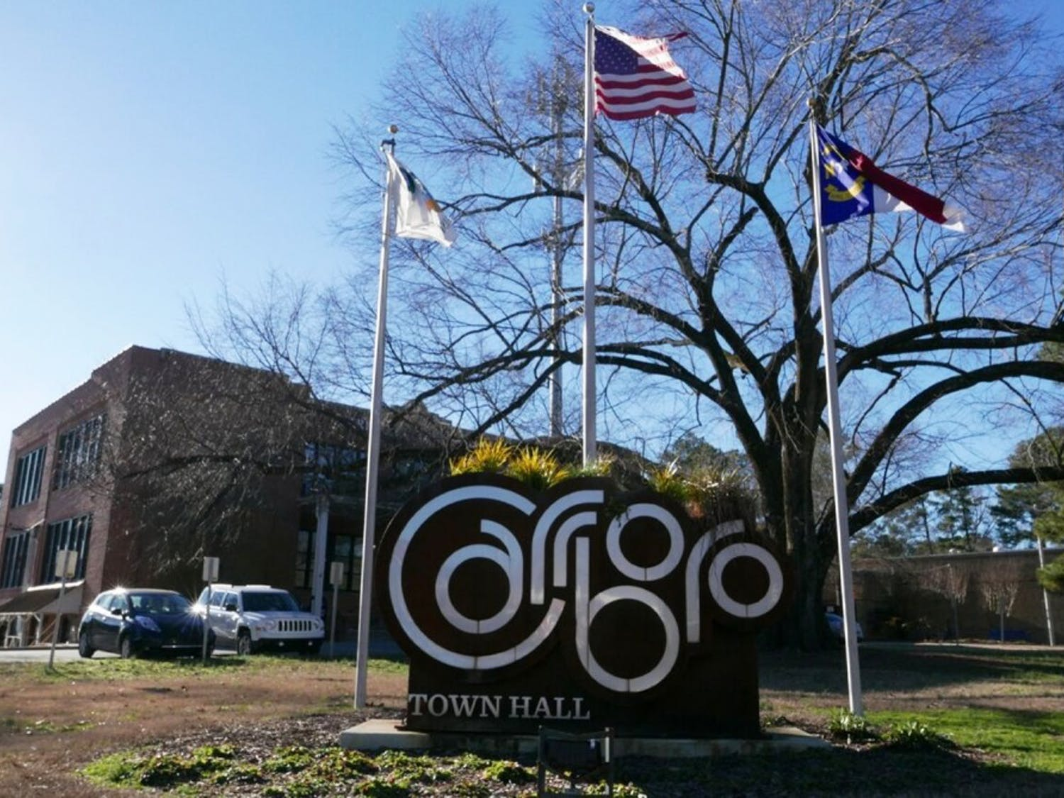 Carrboro Town Hall is located at 301 West Main St.