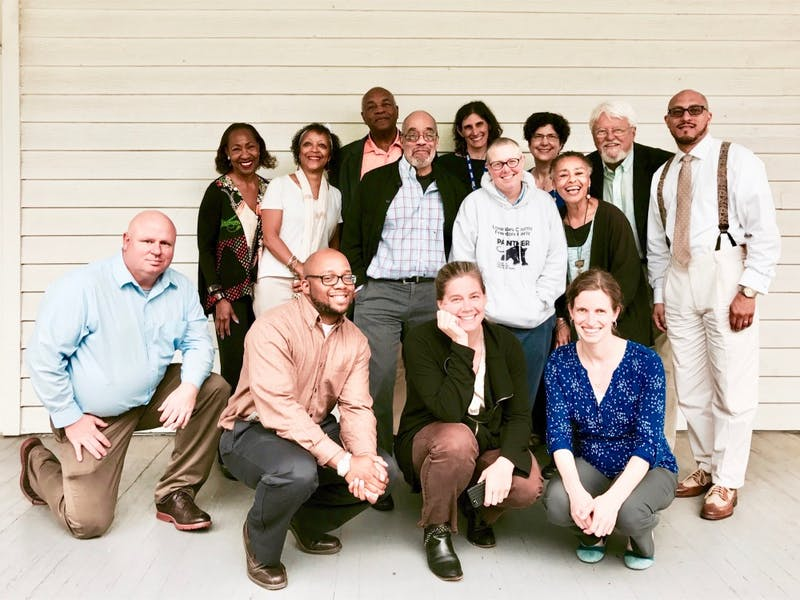 Project members from SNCC Legacy Project, Center for Documentary Studies, and Duke University Libraries. The project, which created an online archive and activism platform, is a product of a five-year partnership between SNCC, the documentary center and the libraries. Photo courtesy of Wesley Hogan.