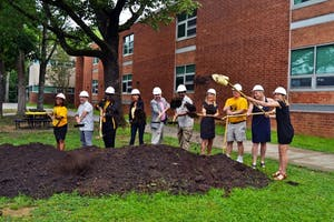 Ceremony speakers at Chapel Hill High School is officially break ground on June 12.