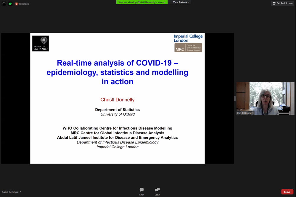 Oxford statisician presents research on spread of COVID-19 to UNC students