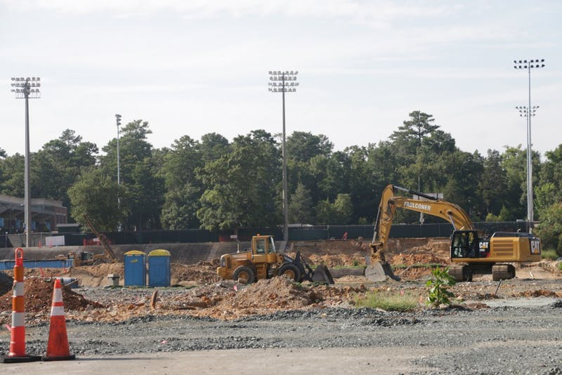 Fetzer and Navy Field are both undergoing heavy construction this summer.