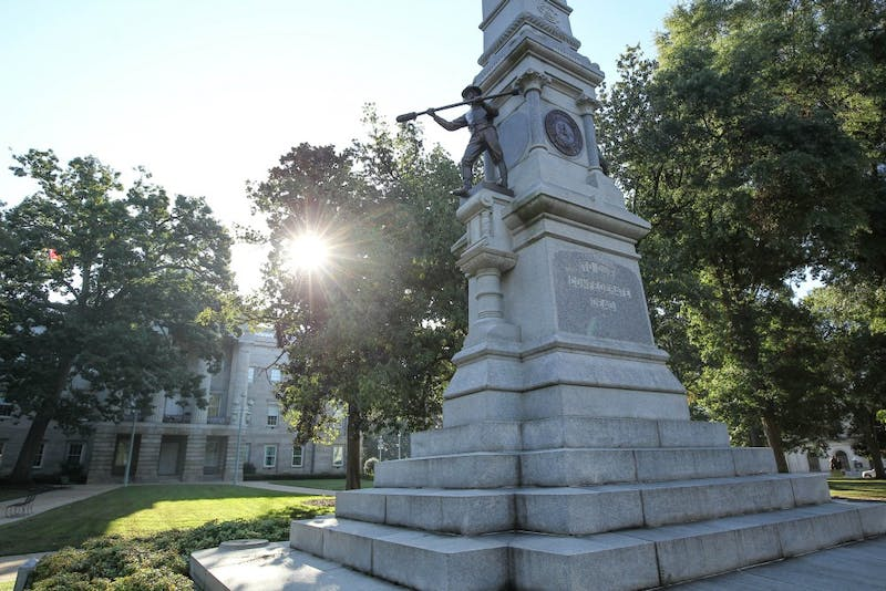 Three Confederate statues on North Carolina's old Capitol Grounds in Raleigh, NC are under consideration for relocation.