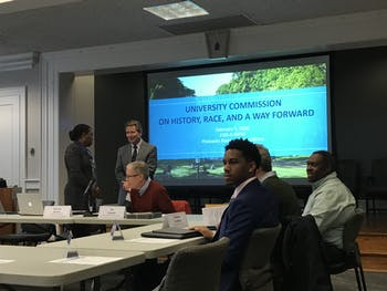 Chancellor Kevin Guskiewicz's new Commission on History, Race and A Way Forward met Friday, Feb. 7, 2020 for the first time.