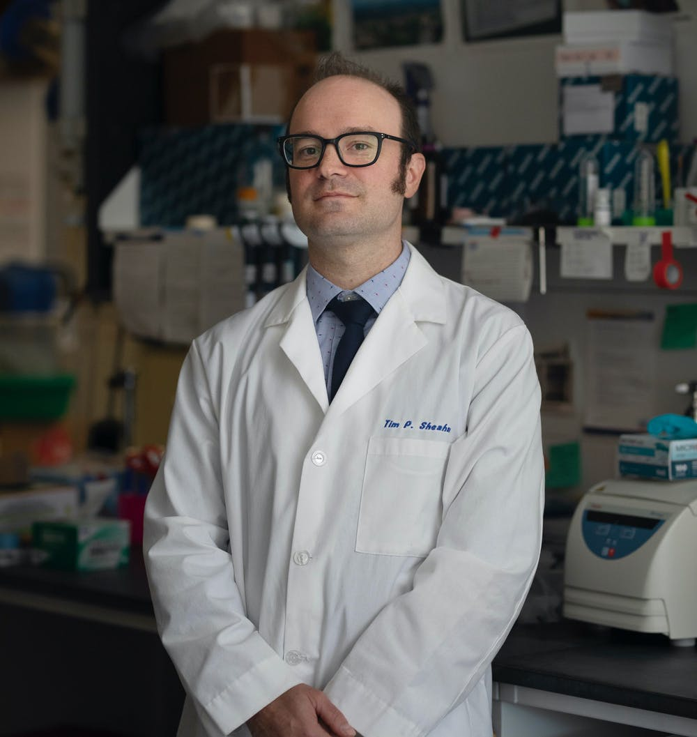 <p>Timothy Sheahan, an assistant professor in UNC Gillings School of Global Public Health's department of epidemiology, has been working closely with coronaviruses prior to the pandemic with his work on the creation of anti-viral drugs. Photo courtesy of Sheahan.</p>