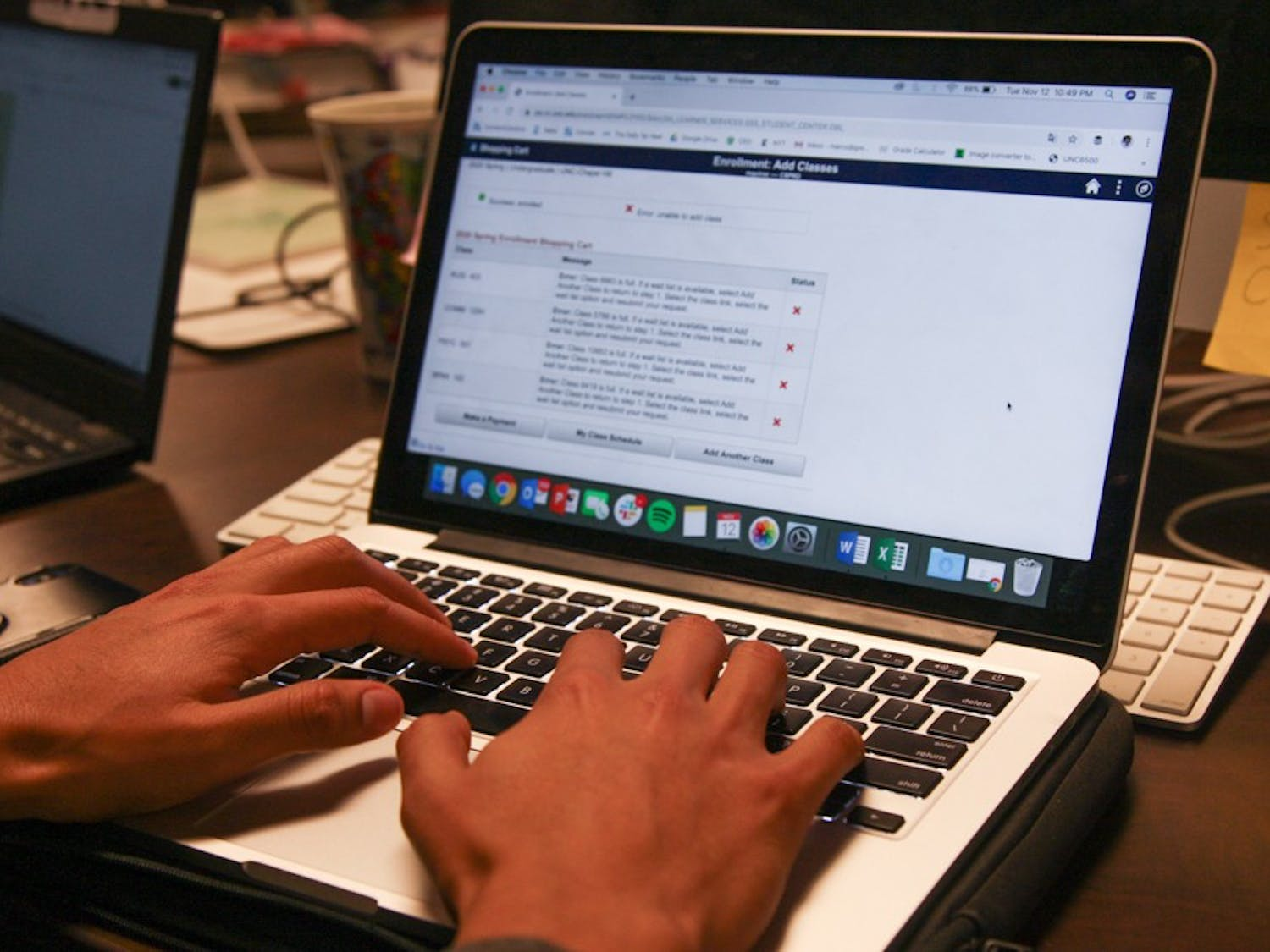 DTH Photo Illustration. UNC students use the website ConnectCarolina to register for classes. Some students have a hard time enrolling in classes and receive various error messages.