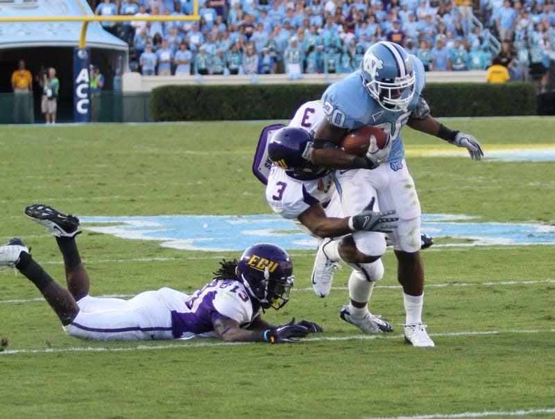 UNC defeated the East Carolina University Pirates 42-17 at Kenan Stadium on Saturday, October 2.