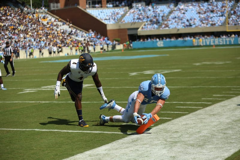 North Carolina lost its home opener to California, 35-30, in Kenan Stadium on Saturday, Sep. 2.