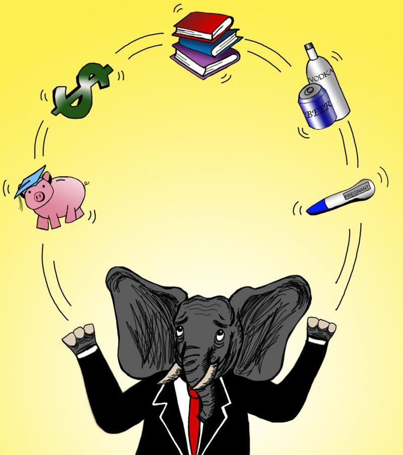 Republicans will be juggling issues such as tuition, the budget deficit, financial aid, privatization of alcohol sales and abortion.
