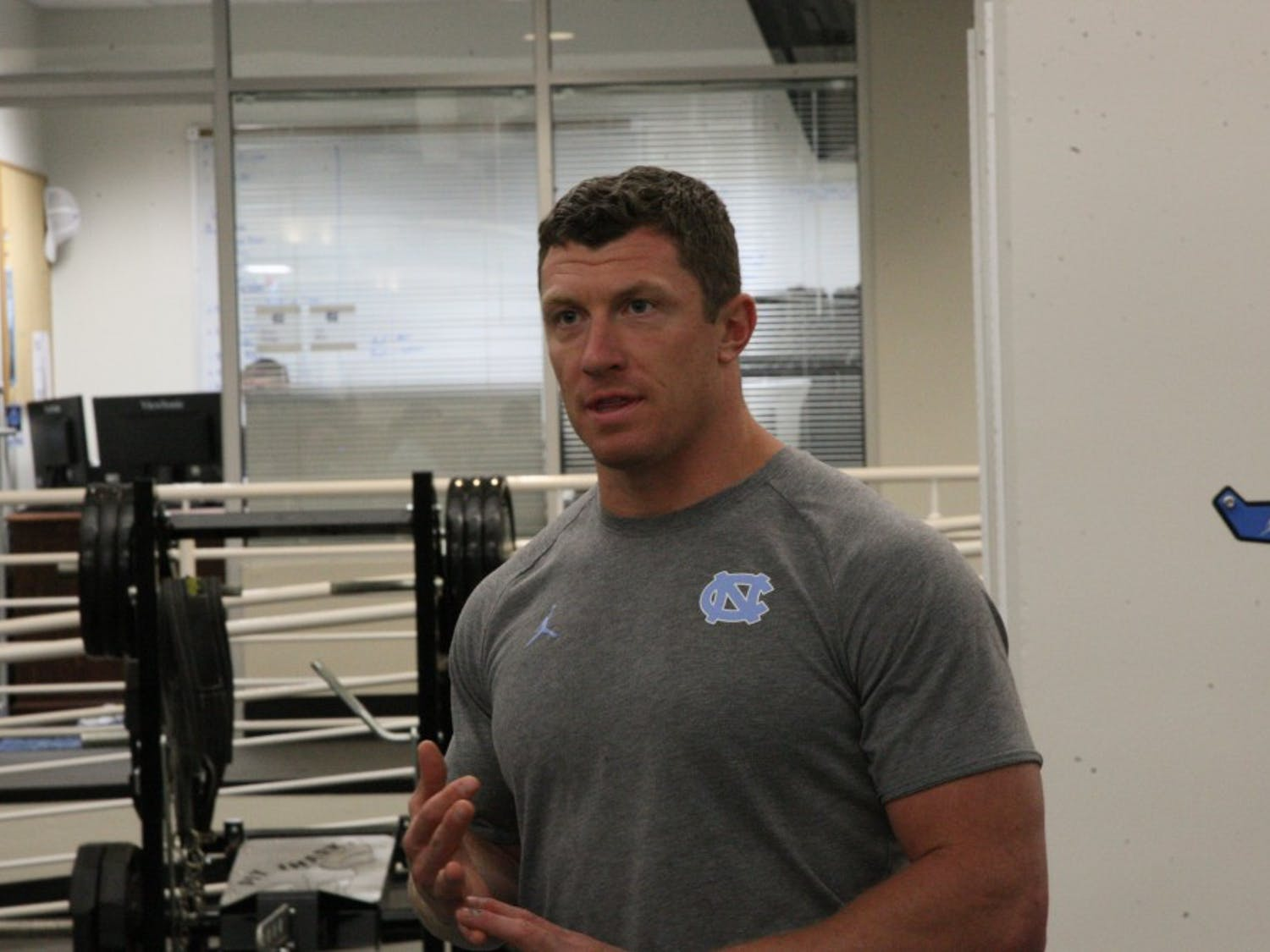 Brian Hess, the head strength & conditioning coach for UNC's football team, discusses the new weight room facilities for the 2019-2020 season.