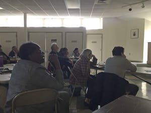 Chapel Hill townspeople met at Hargraves Community Center to give input on future development of West Rosemary street.