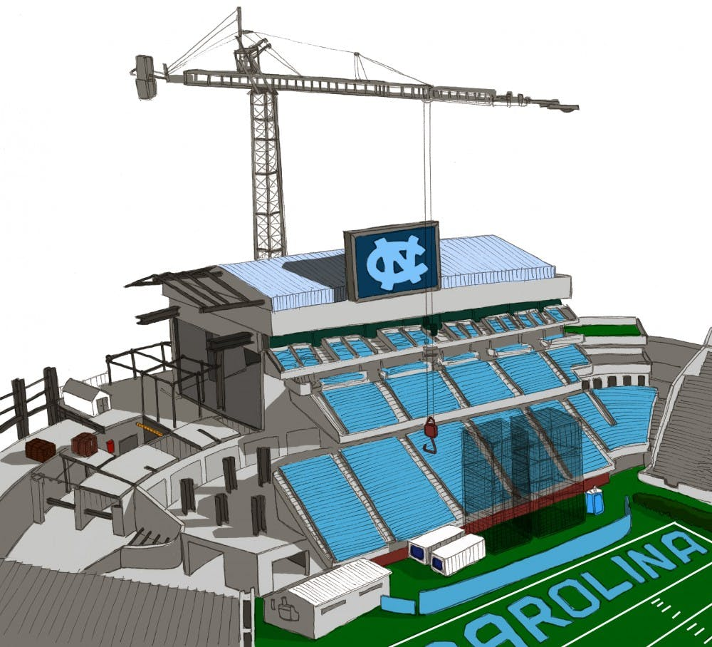 <p>The Rams Club, UNC's athletic booster club, plans for Kenan Stadium's east end zone to be completed in time for North Carolina's first home football game in the 2011 season. Officials said the club has exceeded its expectations for donations, which will pay for $35 million out of the $70 million total for the project. </p>