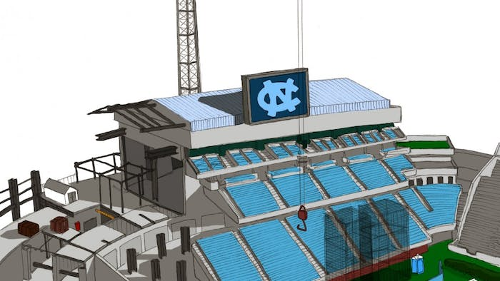 The Rams Club, UNC's athletic booster club, plans for Kenan Stadium's east end zone to be completed in time for North Carolina's first home football game in the 2011 season. Officials said the club has exceeded its expectations for donations, which will pay for $35 million out of the $70 million total for the project.