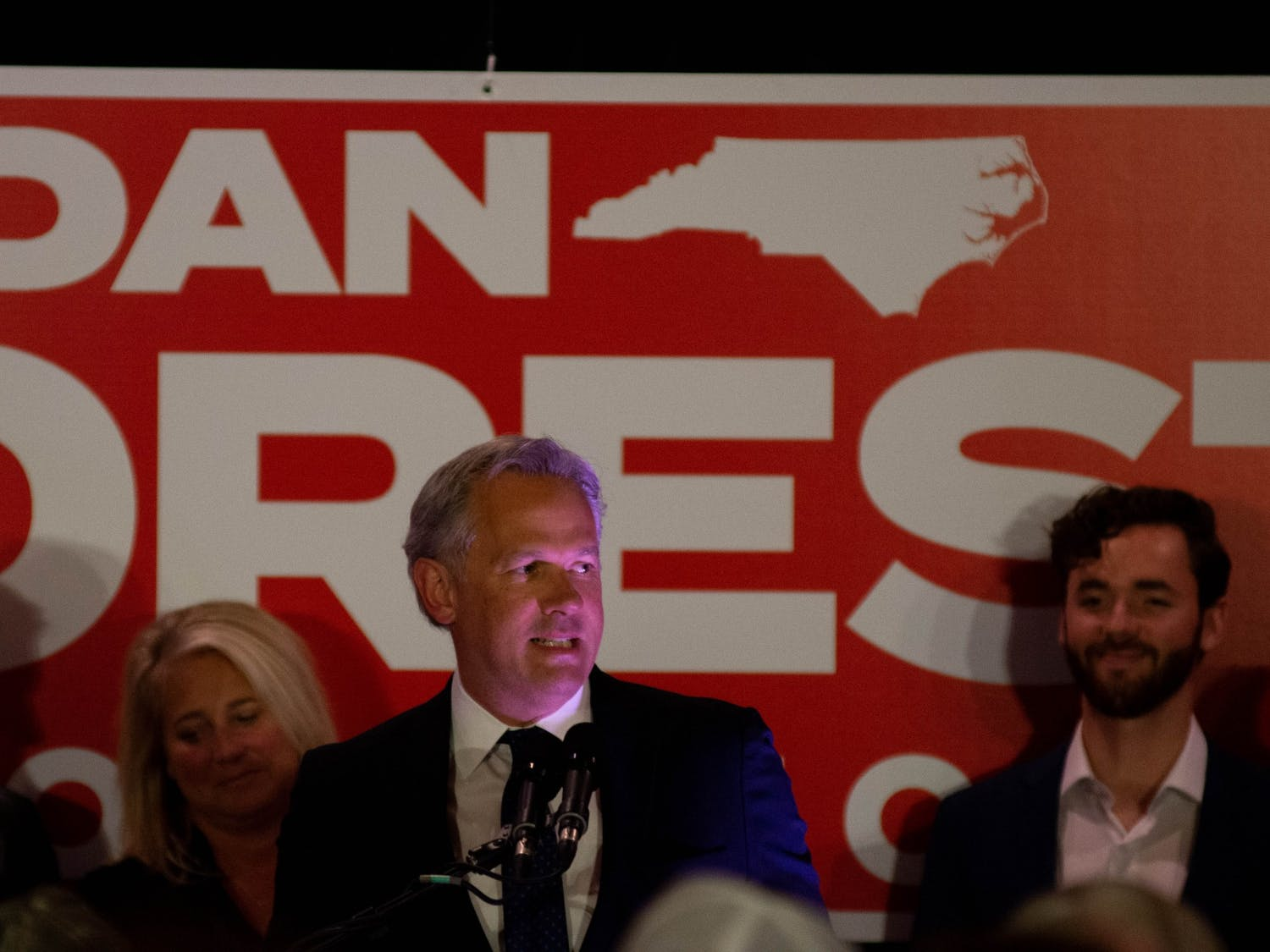 Lieutenant Governor and 2020 Republican gubernatorial candidate Dan Forest held an election night party on Nov 3, 2020, in Selma, NC. Forest did not overtake incumbent Governor Roy Cooper.