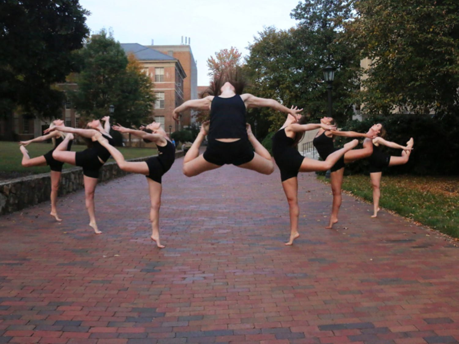 Carolina Vibe, a dance team on campus, performs a variety of dance styles. Photo courtesy of Caroline Massengale.