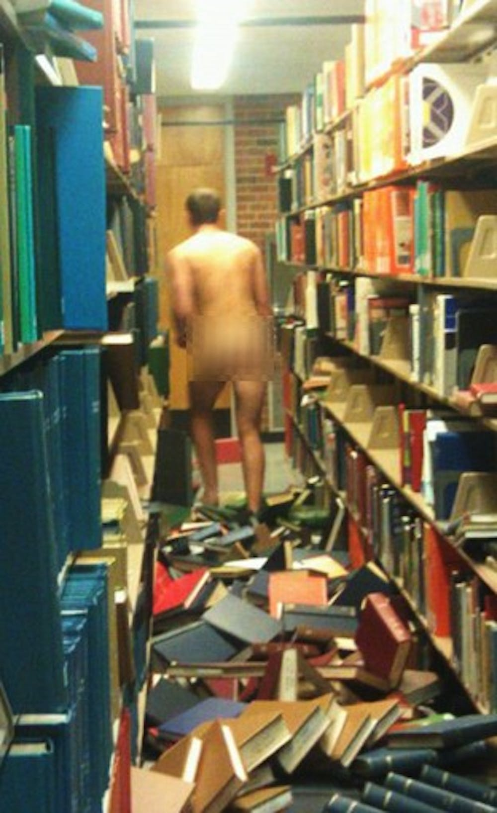 Naked student trashes NC State campus library