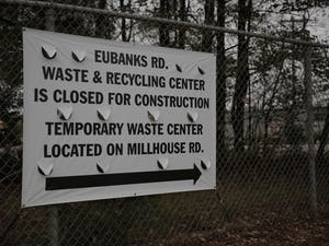 Constructionactivitiesto remodel, expand andmake improvements at the Eubanks Rd. Waste and Recycling Center are estimated to last ten months.