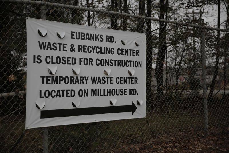 Construction activities to remodel, expand and make improvements at the Eubanks Rd. Waste and Recycling Center are estimated to last ten months.