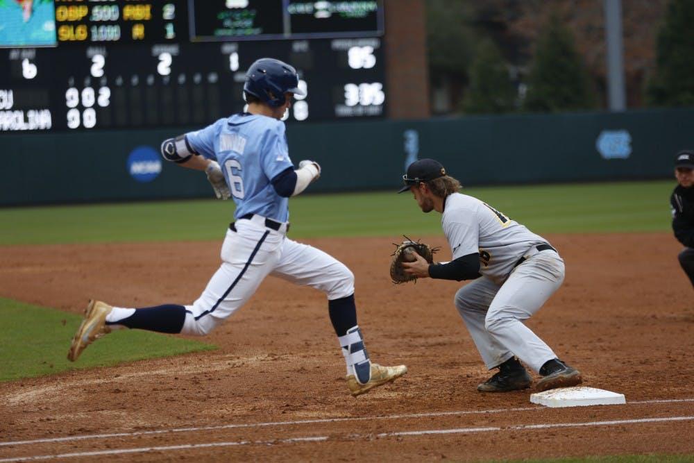 No. 14 North Carolina baseball drops weekend series against Georgia Tech
